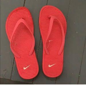 Brand new nike flip flops